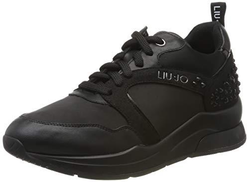 Liu Jo Shoes Karlie 23 Sneaker, Scarpe da Ginnastica Basse Donna, Nero (Black 22222), 39 EU