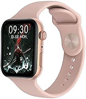 ساعة ذكية HX68 شاشة تتش بالكامل تقوم بقياس نسبة الأكسجين في الدم ونبطات القلب وضغط الدم وتنبيهات المكالمات والرسائل متوافق...