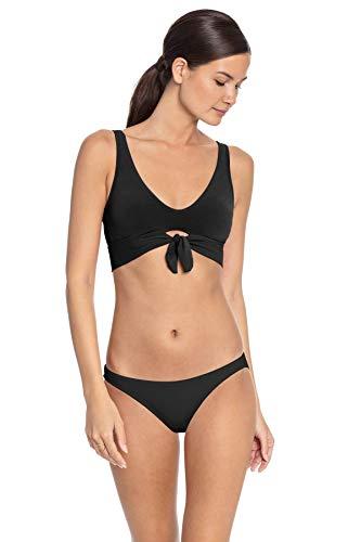 Robin Piccone Women's Ava Solids Classic Bikini Top Black M