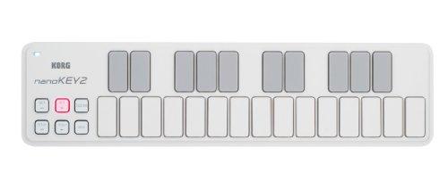 KORG nanoKEY2, USB-MIDI-Keyboard mit 25 Tasten, Weiß