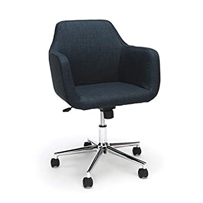 Essentials Upholstered Home Office Desk Chair, Gray (ESS-2085-GRY) from
