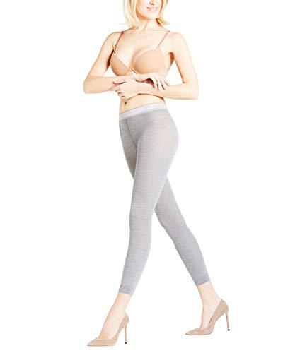 FALKE Damen Leggings Softmerino - Merinowoll-/Baumwollmischung, 1 Paar, Grau (Light Grey Melange 3830), Größe: S/M