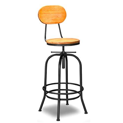DJ Retro barkruk/smeedijzer barstoel/draaibaar/in hoogte verstelbaar/geschikt voor keuken café bar restaurant familie (zithoogte 68-90 cm)