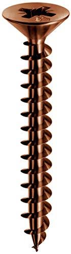 Mustad: 500 Viti Panelvit , Testa Svasata Piana, 4.5x40 mm, bronzate Lubrificate Lubex