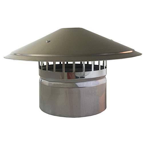 Sombrero Extractor, Acero Inoxidable Tubo De Humos De La Chimenea Carenado Protector contra La Lluvia Tapa Protectora Que Termina,110mm