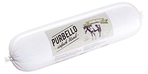 PURBELLO Hundewurst Pferd - 8 x 800 g - Monoprotein Hundefutter mit hohem Fleischanteil - Nassfutter für Hunde - Schnittfest & Getreidefrei (6,4 kg)