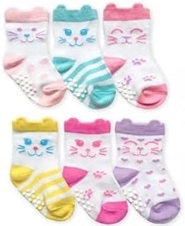 Jefferies socks ジェフリーズ ソックス ねこちゃん靴下 6足セット 滑り止め付 [2350D]