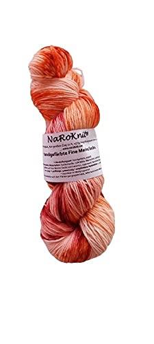 Tintado a mano en calcetines de lana merino finos, 100 g, aprox. 420 m, 75% lana virgen (merino) y...