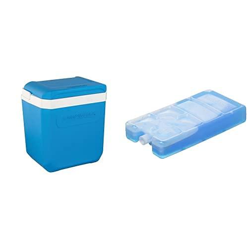Campingaz Nevera Portatil Icetime Plus, Caja Térmica, Nevera para Camping, Playa Y Picnic, 30 L + Pastilla Congelable, Adultos Unisex, Azul, 15 X 7.5 X 3.5 Cm