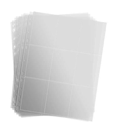 Sammelkarten Alben,450 Pockets Sammelkarten 50 Seiten Pro 9-Pocket Leere Transparent Sammelmapp,Album Ordnerseiten für Trading Cards (450 Pockets)