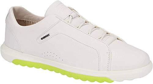Geox Damen Slip-On Sneaker NEXSIDE, Frauen Sneaker,Halbschuh,Sportschuh,Slipper,Gummizug,atmungsaktiv,White,37 EU / 4 UK