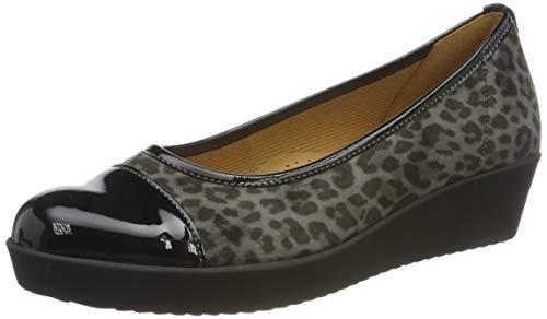 Gabor Shoes Women's Comfort Basic Ballet Flats, Grey (AnthrazitSchwarz 60), 6.5 UK