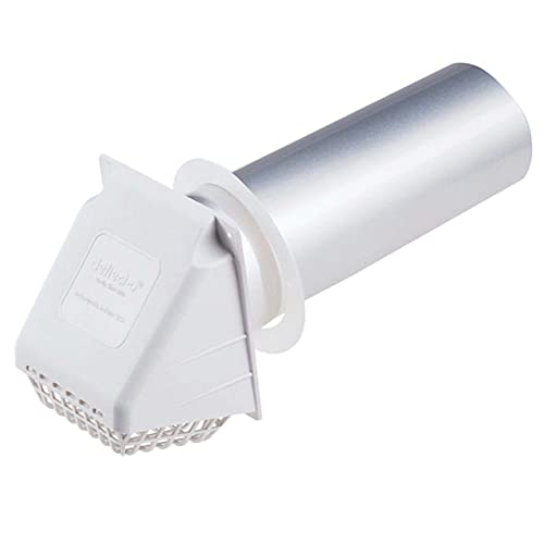 """Deflecto Dryer Vent Hood, Wide Mouth, 4"""", White (RVHAW4)"""