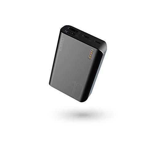 ROMOSS Power bank 10000mah Caricabatterie Portatile 2 Ingressi (2.1A+1A) Batteria Esterna Portatile con LED Indicatore Backup Batteria compatibile con Smartphone,Tablets e Altro (Nero)