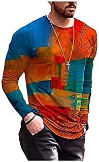 Wanxiaoyyyinnscx Long Sleeve Shirts, Men's Oversized Vintage Long Sleeve T Shirts Spring Fashion Harajuku Print O Neck Tsh...