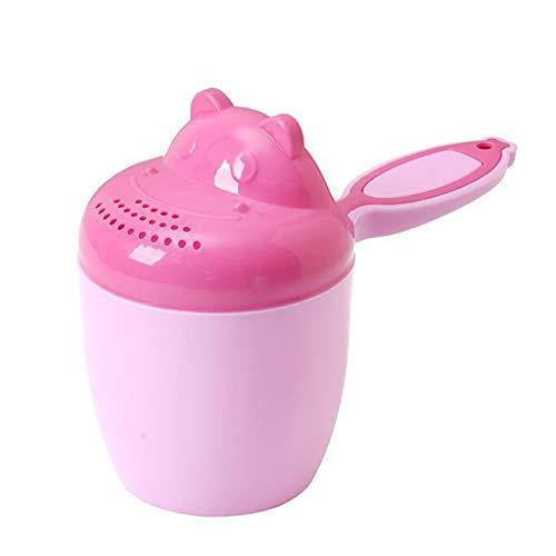 Rince Tête Bébé,Rameng Tasse de Bain Hair Wash Cup pour Enfant Rince Cheveux pour Le Bain (Rose)