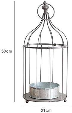 ZX European Iron Birdcage Decor Tabletop Garden Photo Props Wedding Bird Cage Window Fleshy Flower Decoration in A Cage