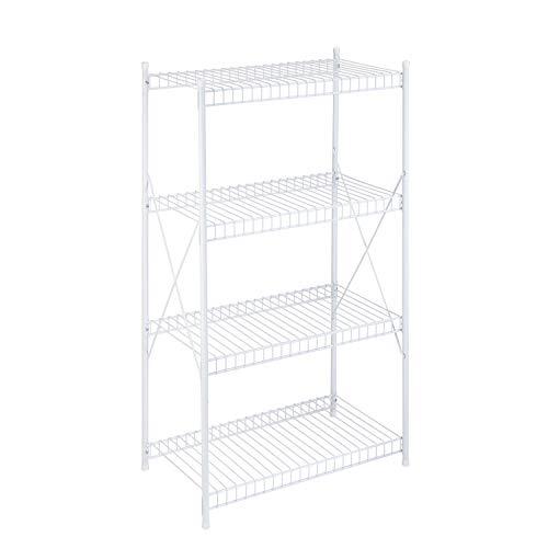 Honey-Can-Do 4-Tier Storage Shelf, White, 1400 lbs
