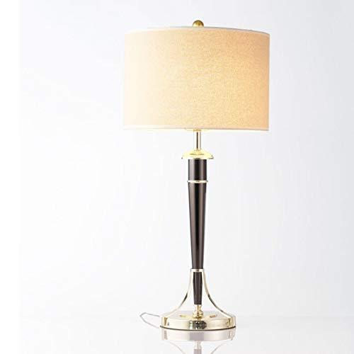 Lfixhssf Eenvoudige moderne galvanische plastic tafellamp linnen lampenkap Black Pearl tafellamp Lfixhssf
