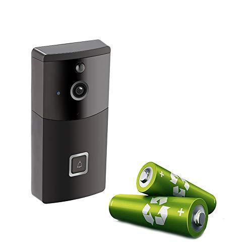 YMXLJJ Cámara de Seguridad para el hogar con Video de Alta definición con cámara de Seguridad Inteligente WiFi con walkie-Talkie de visión Nocturna con detección de Movimiento (Negro)