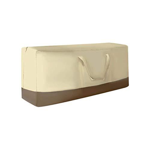 Bolsa de almacenamiento con cojín para muebles de patio 116x35x51cm, bolsas de almacenamiento para árboles de Navidad, resistentes 420D, impermeables, bolsas de almacenamiento con cremallera y asas,