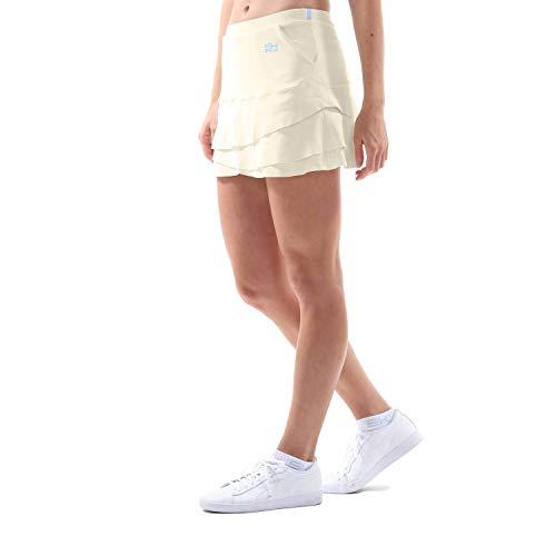 Sportkind Mädchen & Damen Tennis, Hockey, Golf Tulip Rock mit Taschen & Innenhose, Creme, Gr. L