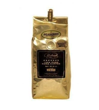 Mulvadi 100% Kona Peaberry Whole Bean Coffee
