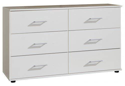 Wimex Kommode/ Schubladenkommode Easy Plus A, 6 Schubladen, (B/H/T) 82 x 42 x 130 cm, Weiß