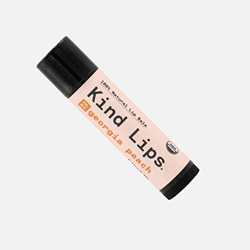 Kind Lips Organic Lip Balm | Georgia Peach No 05 Single 015oz | AllNatural Chapstick