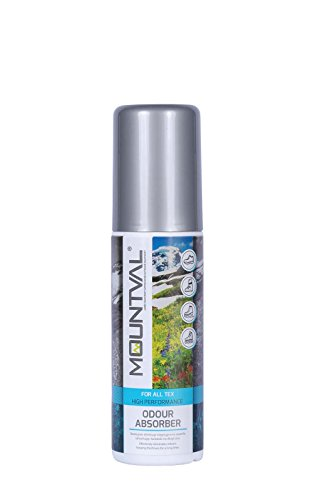Mountval Geruchsneutralisierer & Schuhspray gegen Geruch für Wanderschuhe, Trekkingschuhe, Wanderstiefel, Arbeitsschuhe, Laufschuhe, Inliner, Snowboardschuhe – Schuhdeo als Spray