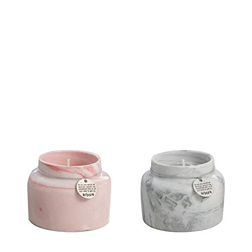 TAYIBO Vela Aromática Regalo,Caja perfumada, cumpleaños romántico, Vela perfumada, Regalo de Mano en Polvo Gris