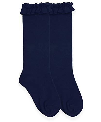 Jefferies Socks Kniestrümpfe für kleine Mädchen, Rüschen, 1 Stück - Blau - Medium