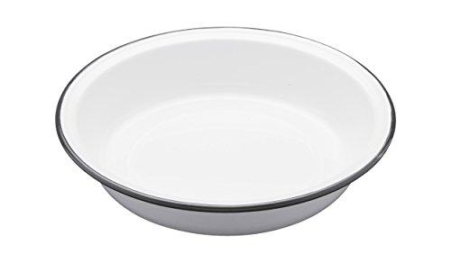 Kitchen Craft LNENRDPIE22 Plat à Tarte Living Nostalgia Rond 22cm Blanc/Gris, Porcelain, 9 x 12 x 16 cm