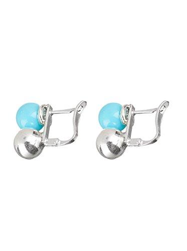 Córdoba Jewels | Pendientes en plata de Ley 925. Diseño Tú y Yo Turquesa Catalán