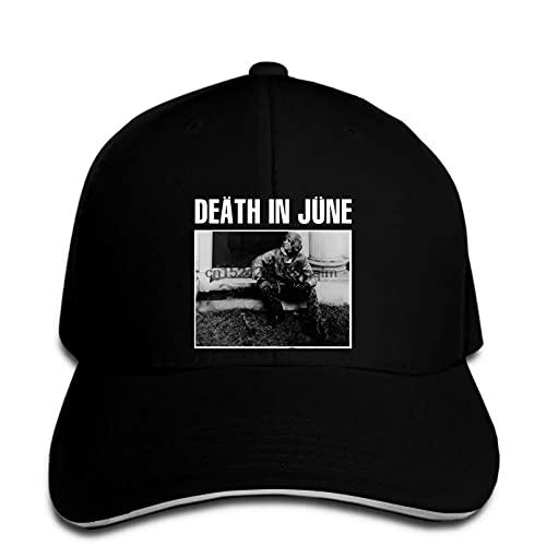FOMBV Casquette de Baseball Death in June Chapeau Snapback Neofolk Noir Vintage Peaked réglable Casual Cadeau de Chapeau de Soleil imprimé