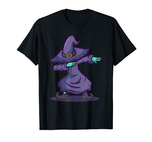 Halloween 2021 Trendy Dabbing Witch Camiseta