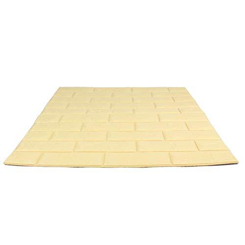 Craft Faux Brick Wall Panels - Peel and Stick Foam Brick - 3D Wall Panels for Fake Brick Wall - Self Adhesive Brick Wall Panels - 3D Brick Wallpaper (10 pack, Black)
