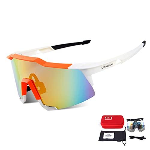 YSPS Gafas de Sol Deportivas con 2 Lentes Intercambiables UV400 Ligero en Bicicleta, Gafas de Bicicletas de Marco de Superlight, Sport Golf al Aire Libre Skiing Running D C