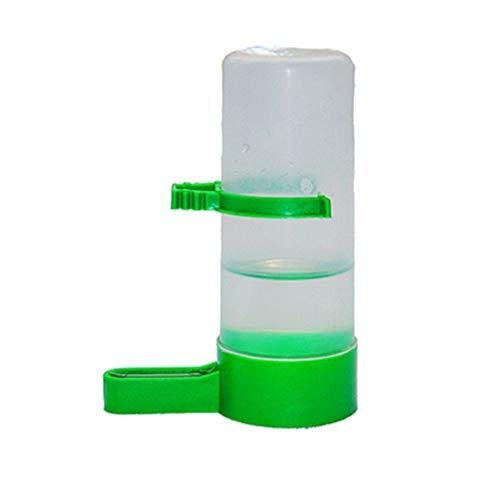 Cabilock - Bebedero automático de agua para pájaros con clip de plástico para jaula de pájaros, dispensador de taza, para loro, loro, cockatiel (grande)