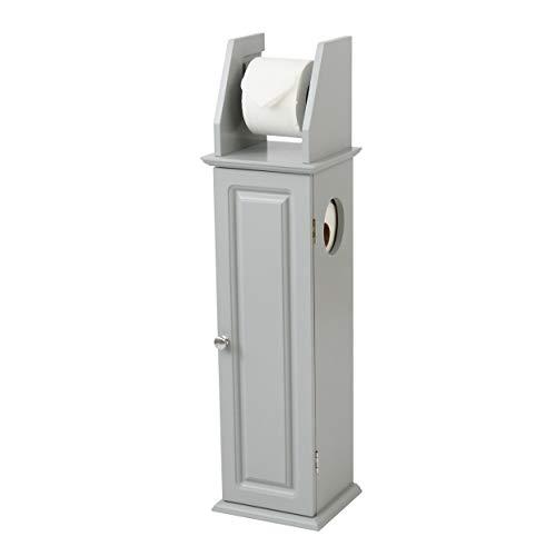 House & Homestyle Toilet roll Holder, MDF, Grey, H 79cm x W 20.5cm x D 18cm