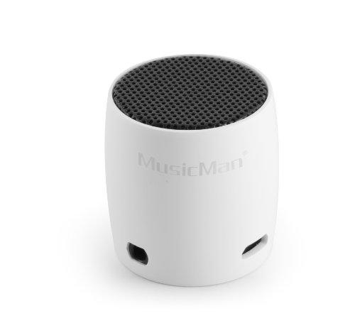 MusicMan BT-X7 NANO Bluetooth Soundstation - Mini Lautsprecher in weiß