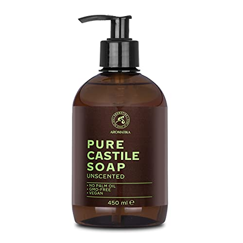 Jabón Líquido Puro de Castilla - 450 ml - Jabón natural de Castilla - Jabón Líquido Sin Perfume - Base de Jabón - Dispensador de Jabón de Manos - Detergente Líquido - Jabón Sin Perfume