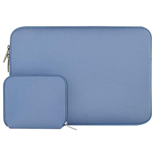 MOSISO Laptop Sleeve Bag Compatible with 2019 MacBook Pro 16 inch Touch Bar A2141, 15-15.6 inch MacBook Pro Retina 2012-2015, Notebook, Water Repellent Neoprene Cover with Small Case, Serenity Blue