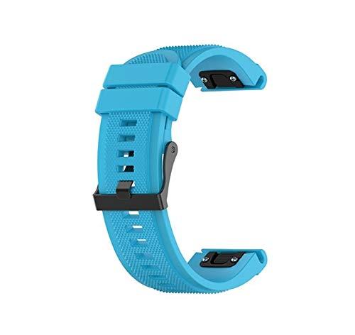 Pulseira de Silicone Azul Adulto P/Relógio Garmin Forerunner 935