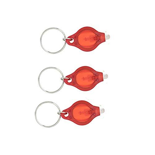 Vektenxi Mini-Taschenlampe LED Key Light Kleine Schlüsselanhänger Kette Leichte Mobile Mini Keychain Rot