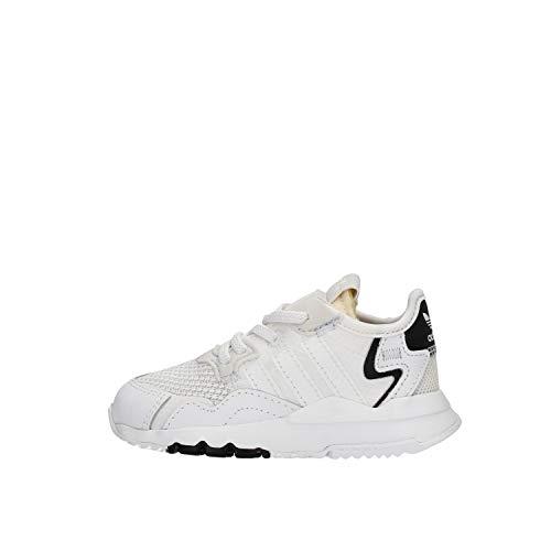 adidas Nite Jogger Zapatillas blancas para niño EE6479 Blanco Size: 26 EU