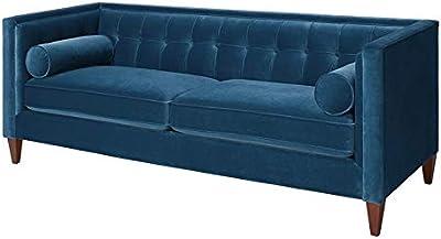Surprising Amazon Com Jennifer Taylor Home Sofa Satin Teal Velvet Download Free Architecture Designs Scobabritishbridgeorg