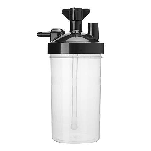 Hoseten Botellas humidificadoras de generador de oxígeno, humidificador concentrador de oxígeno Duradero de reemplazo práctico, diseño translúcido, hogar de plástico para generadores de oxígeno