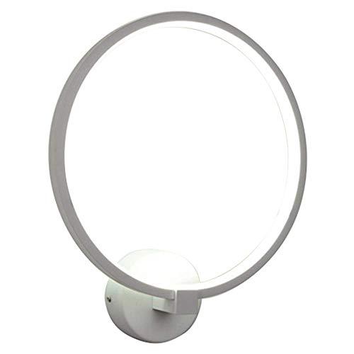 ZYL-IL Lámpara de Pared Moderna Arte nórdico Salón Dormitorio de Noche de iluminación LED de Alta Potencia Soporte Gloss Inicio Blanca