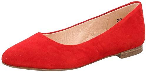 CAPRICE Damen Alisa Geschlossene Ballerinas, Rot (Red Suede 524), 37 EU